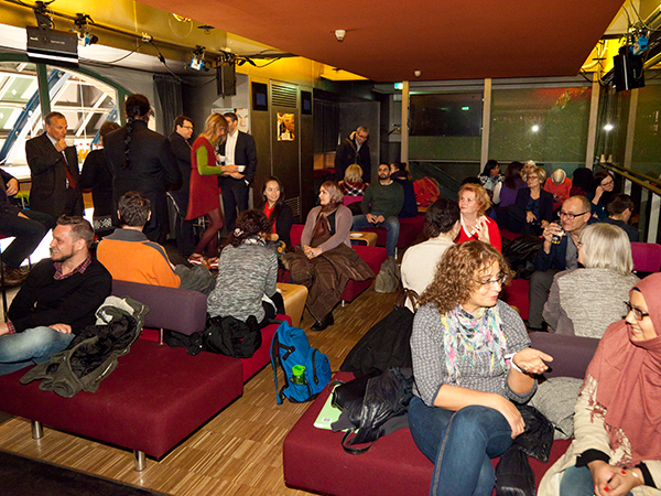 Get-together in der Lounge der Centralstation Darmstadt