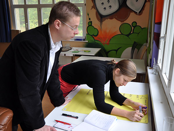 Daniel and Anne planning for a German-Polish Living Library